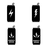 Energy drink icon on white background