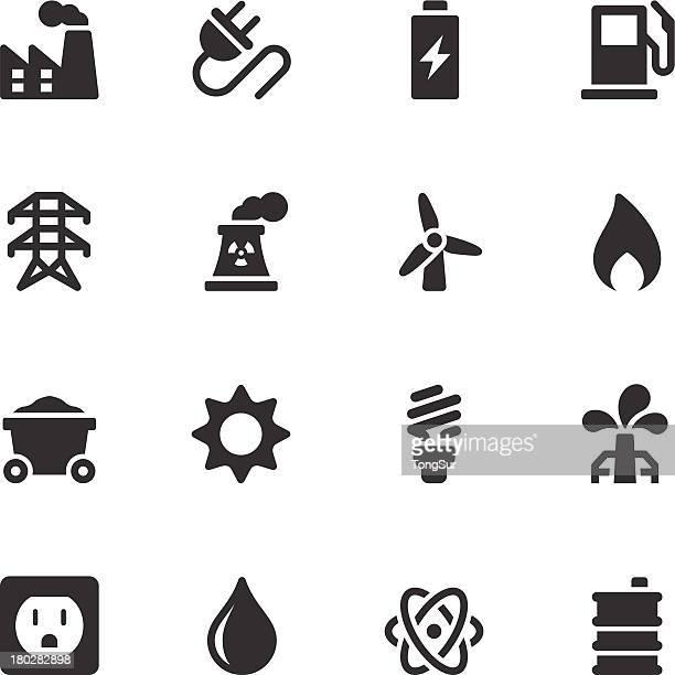 Energie-Icons-Schwarz-Serie