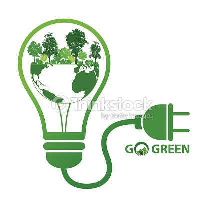 Energy save idea concept vector art thinkstock for Save energy painting