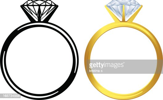 Engagement Ring Icon Vector Art | Getty Images