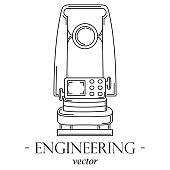 Engineering logo with a theodolite.