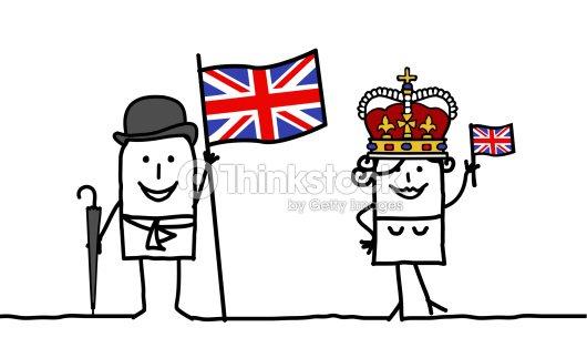 Inglaterra ingl s personas arte vectorial thinkstock - Dibujo bandera inglesa ...