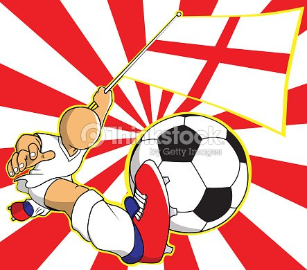 england soccer player vector cartoon vector art thinkstock