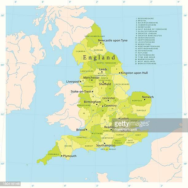 England Vector Map