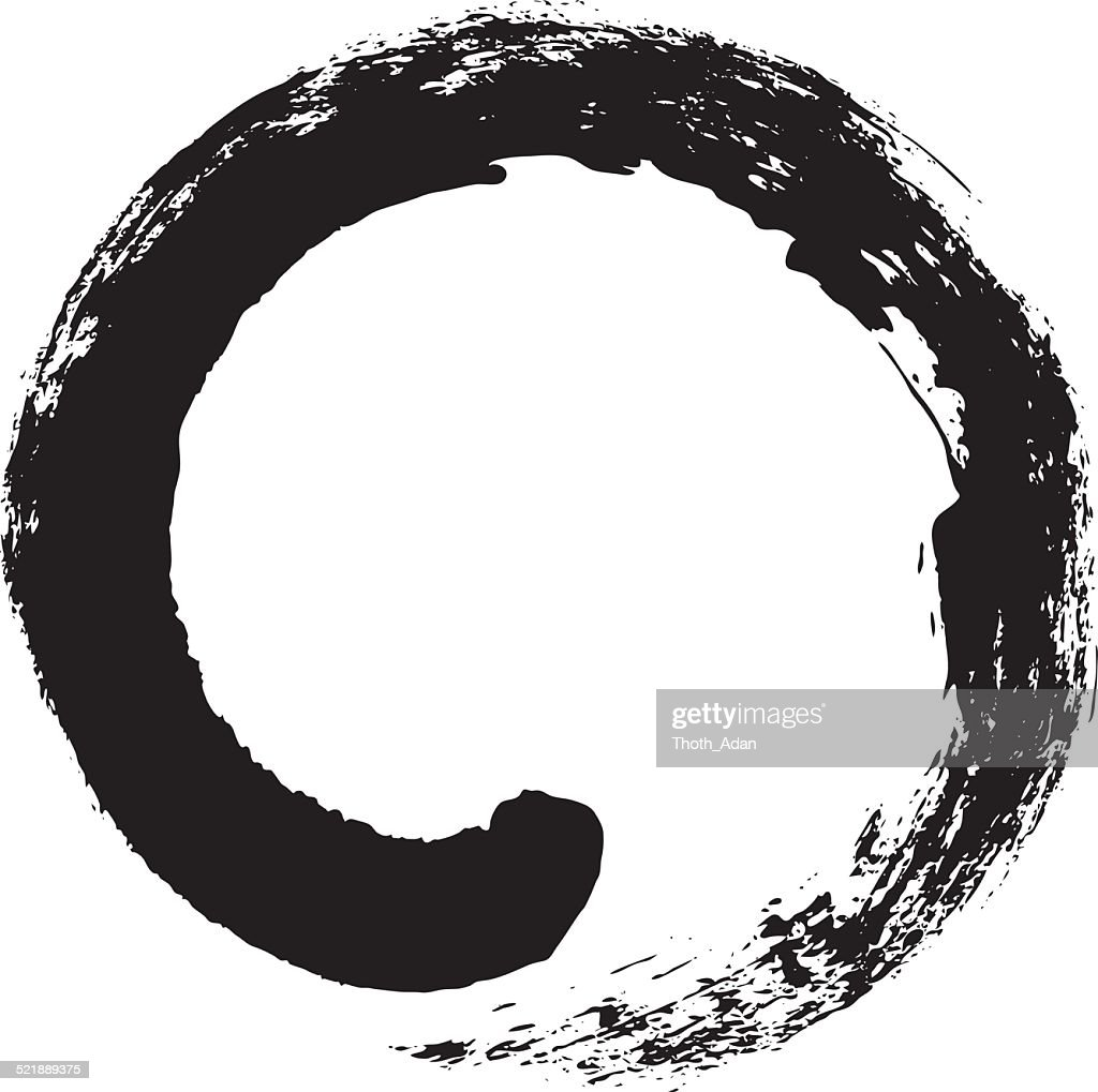 Enso Japanese Zen Circle Calligraphy Vector Art Getty Images