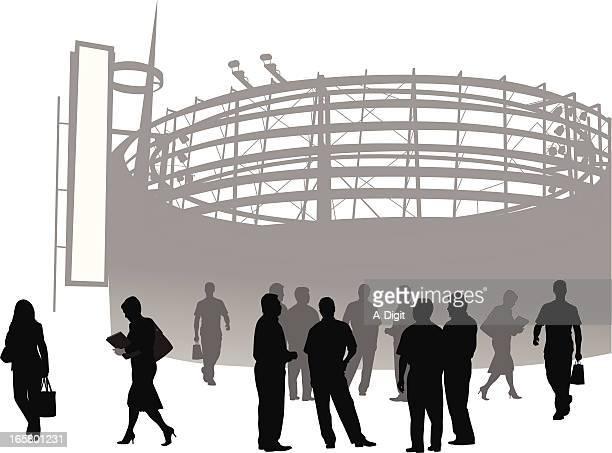 Entertainment Center Vector Silhouette