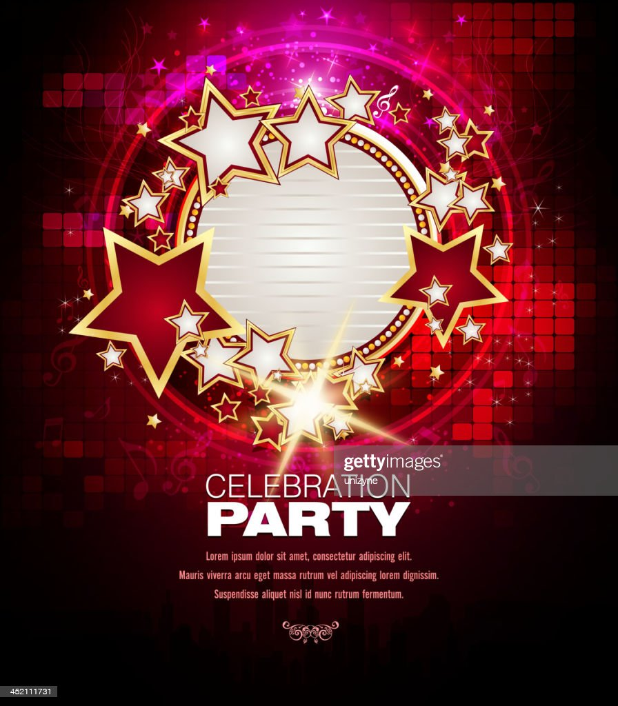 Entertainment Music Background With Marquee Display Vector ...