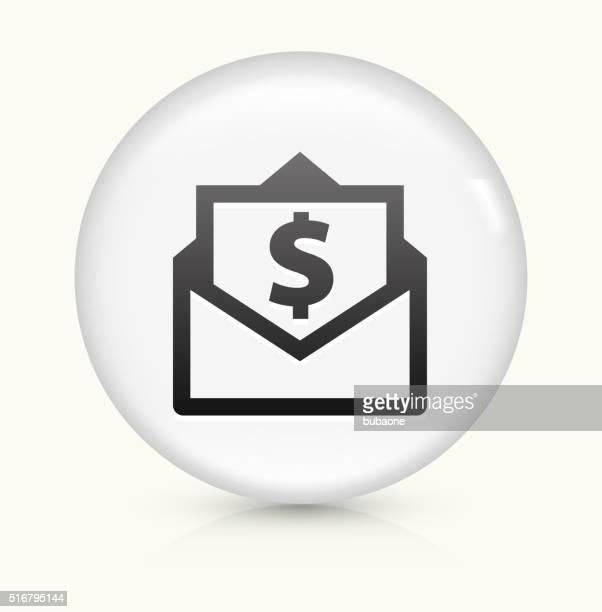 Envelope Money icon on white round vector button