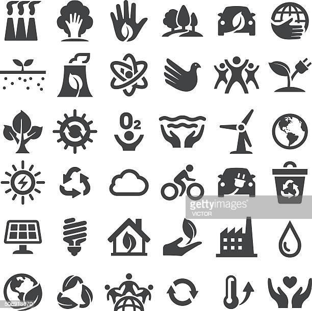 Conservación del medio ambiente, serie iconos-grande