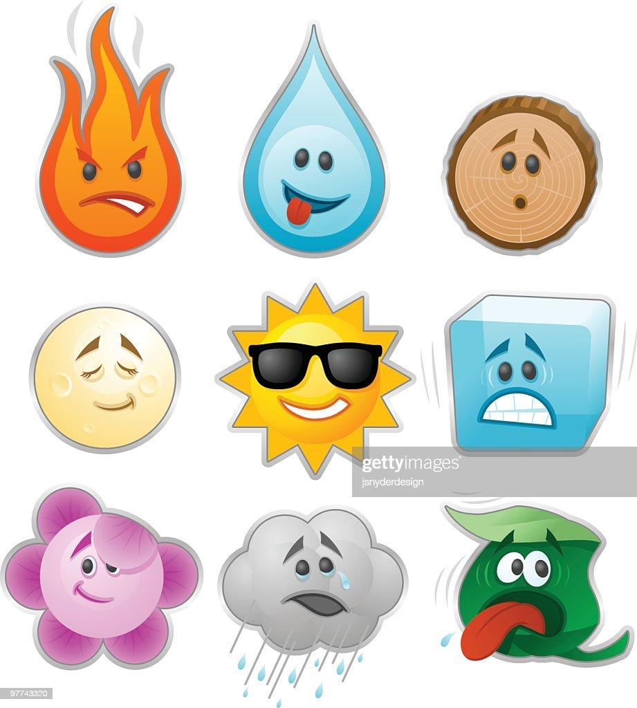Environmental Emoticons : Vector Art