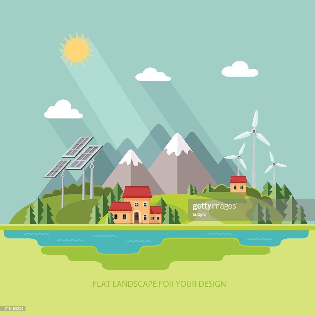 Environmental Landscape Solar And Wind Energy Environmental