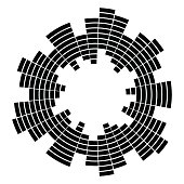 equalizer music sound wave circle vector symbol icon design. Beautiful illustration isolated on white background