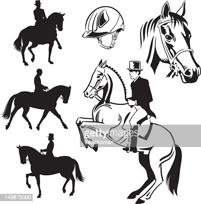 Show Jumping Vector Art and Graphics | Getty Images