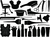 Equipment for hair dying isolated