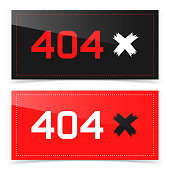 Error 404 page not found. Vector banner