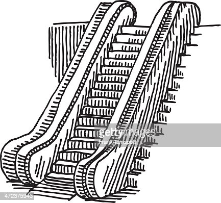 Escalator Drawing Vector Art | Getty Images