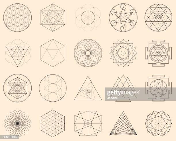 Esoterische spirituelle Geometrie