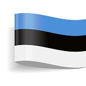 Estonia Flag Vector Icon - Illustration