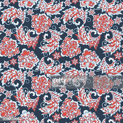 Ethnic Floral seamless pattern. : Vector Art