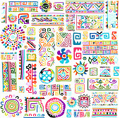 Ethnic handmade colorful ornament for your design. Vector illustration