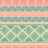 Hand Drawn Vintage Ethnic Ornament Seamless Pattern