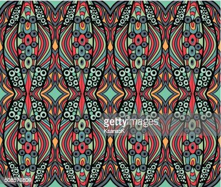 Ethnic Retro Ornament : Vector Art