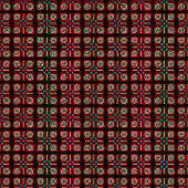 ethnic seamless pattern background in brown and red colors, vector illustration