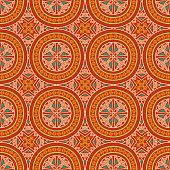 Colorful tribal ethnic seamless pattern. Abstract texture in bright colors. Vector illustration.