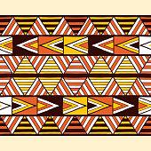 Ethnic tribal pattern border seamless. Native American geometric texture.