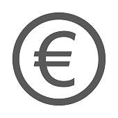 Euro symbol icon. Vector simple illustration of euro symbol icon isolated on white