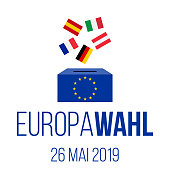 europawahl 26 mai 2019 - european elections 2019 german vector poster