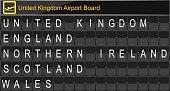 Europe airport digital boarding for United kingdom-England-Northern ireland-Scotland-Wales