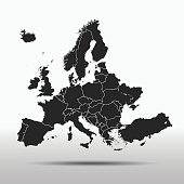 vector map of the Europe.