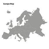 Europe map on background
