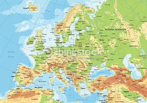 Europe Physical Map Vector Art | Thinkstock