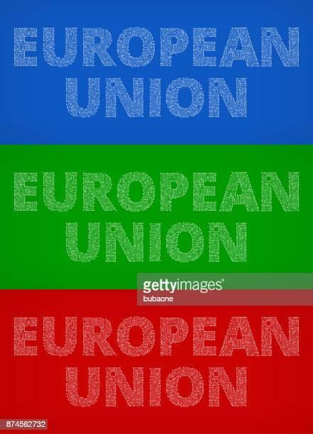 European Union Circuit Board Color Vector Backgrounds