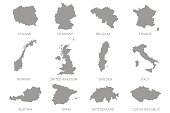 Europian maps set