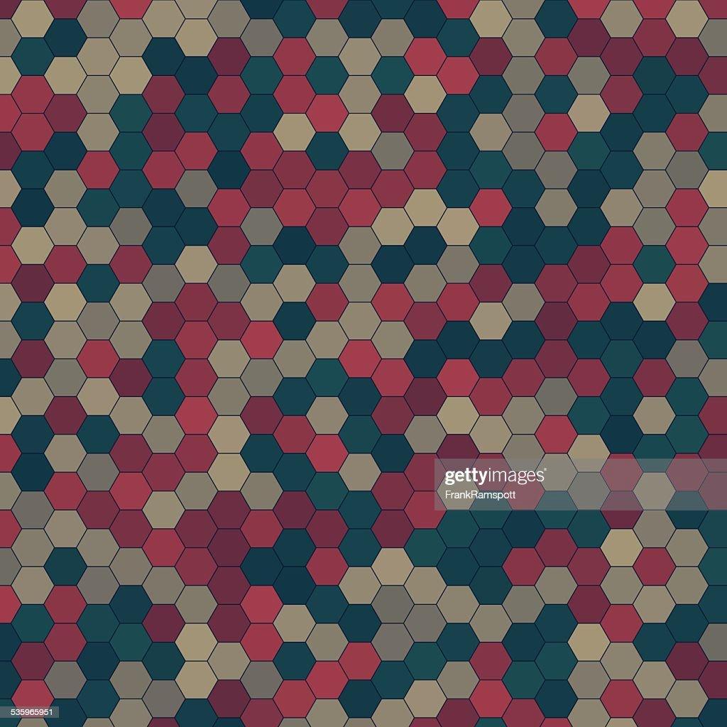 Evening Hexagon Pattern Square : Vector Art