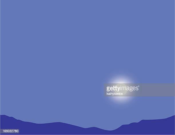 evening moonrise