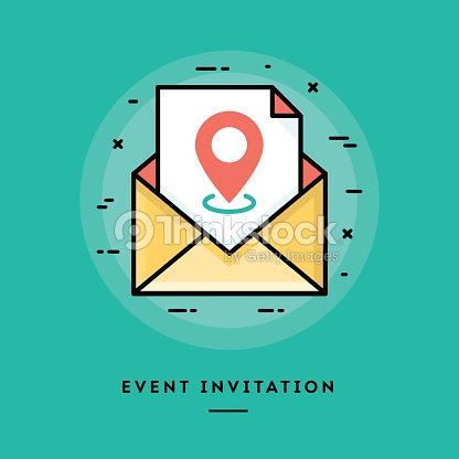 Event invitation flat design thin line banner vector art thinkstock event invitation flat design thin line banner vector art stopboris Images