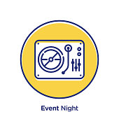 Event related offset style vector illustration.