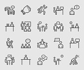 Every day in office line icon