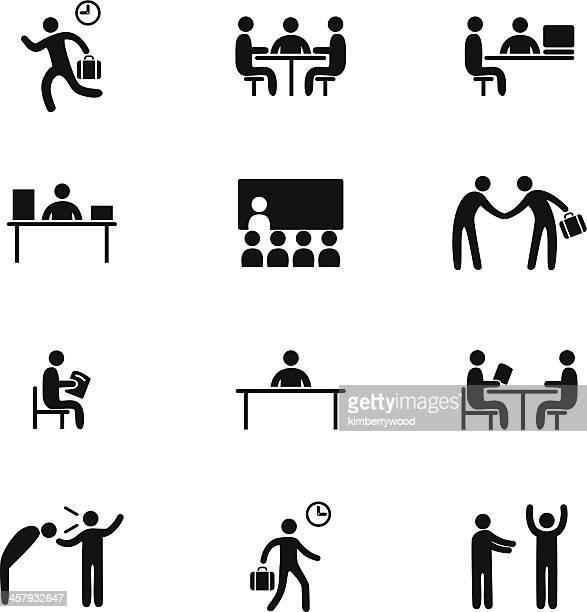 Icon-Set für jeden Tag im Büro