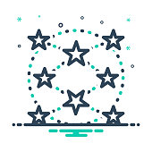 Icon for everywhere, ubiquitously, anywhere, star, link