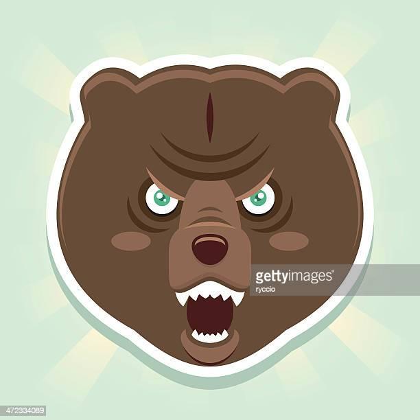 Evil bear face