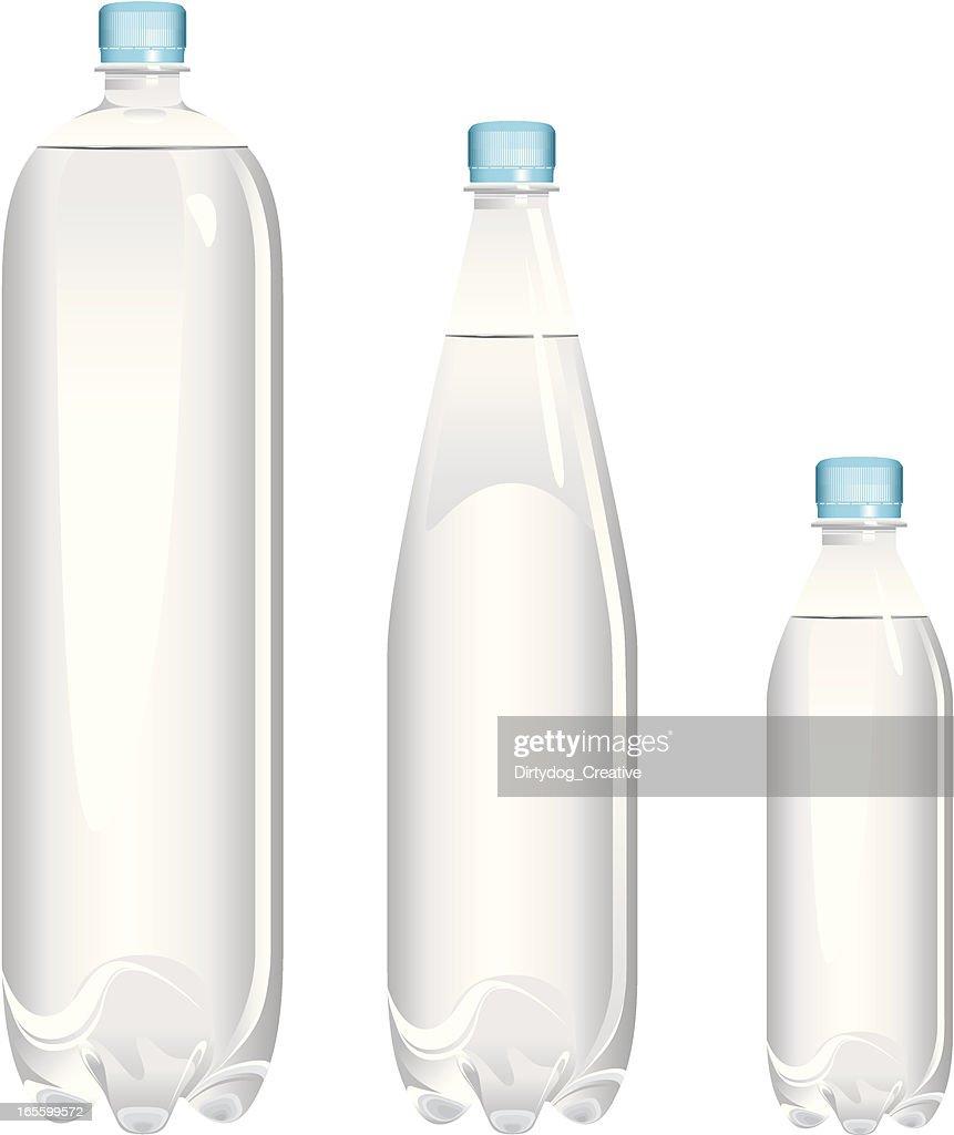 Bottiglie di acqua varie dimensioni arte vettoriale for Dimensioni water