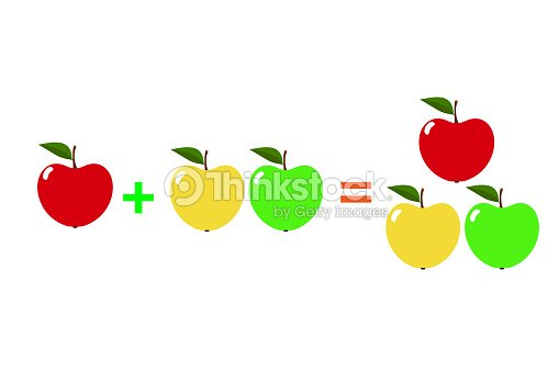 Ejemplos Con Manzanas Dibujos Animados De Matemáticas