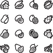 Tamarillo cherry stock photos and pictures getty images - Exotic Fruits Icons Bazza Series Vector Art Thinkstock