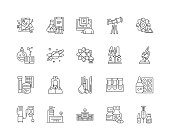 Expertise line icons, linear signs, vector set, outline concept illustration