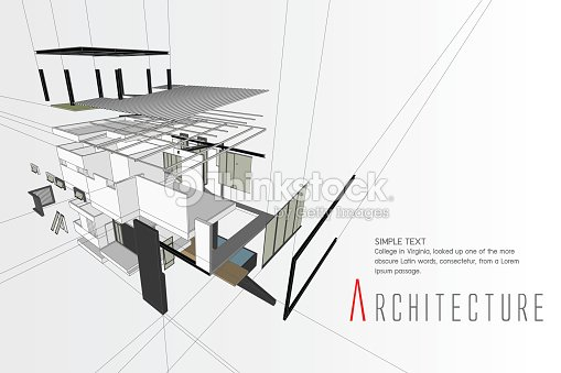 Exploded View Of A Building Vector Art Thinkstock